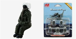 US Modern Era Pilot Set - Five Seated Figures