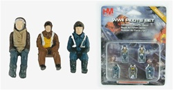 Mixed World War II Pilot Set - Five Seated Figures