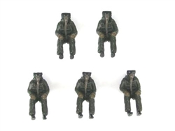 Modern Era Pilot Set - Five Seated Figures [3 US and 2 RAF]