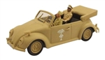 German 1943 Volkswagen Type 87 Peoples Car Cabrio  with General Erwin Rommel and his Driver