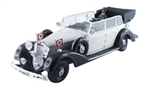 German 1937 770K Grand Mercedes Ceremonial Parade Limousine in Grey and Black with Hitler and Driver - Nuremberg