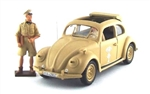 German 1938 Volkswagen Type 87 Peoples Car with General Erwin Rommel and his Driver