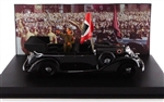 German 1938 770K Grand Mercedes Ceremonial Parade Limousine with Hitler, Nazi Party Rally Parade, Nuremberg, Germany, 1938