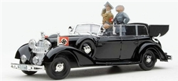 German 1938 770K Grand Mercedes Ceremonial Parade Limousine with Hitler and Mussolini