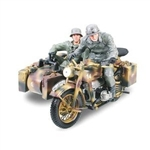 German Zundapp KS750M Motorcycle with Sidecar and Two Soldiers - Wehrmacht