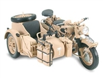 German BMW R75 Motorcycle with Sidecar - Afrika Korps