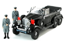 1938 Daimler-Benz Gelandewagen Typ 4 (G4) Limousine with Three Figures - Black