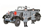 1938 Daimler-Benz Gelandewagen Typ 4 (G4) Limousine with Three Figures - Grey Matte