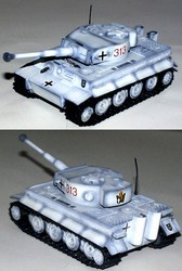German Sd. Kfz. 181 PzKpfw VI Tiger Ausf. E Heavy Tank in Winter White Camouflage