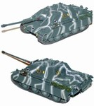 German Late Version Sd. Kfz. 173 Jagdpanther Tank Destroyer in Winter Camouflage