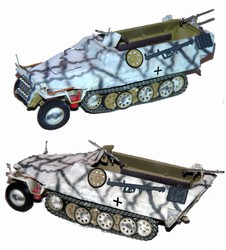 German Sd. Kfz. 251/1 Ausf. D Half-Track in Winter Camouflage