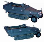 German Sd. Kfz. 251/1 Ausf. D Half-Track - Early War Field Grey
