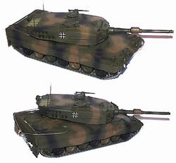 German Bundeswehr Leopard 2 Main Battle Tank - Tri-Color European Camouflage