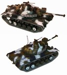 The Motor Pool Collection US M48 A3 Patton Medium Tank - Winter Camouflage