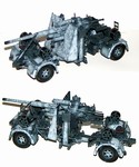 German 88mm Flak 36/37 Anti-Aircraft Gun w/ Trailer in Winter Camouflage
