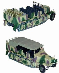 German Sd. Kfz. 7 8-Ton Semi-Tracked Personnel Carrier/ Prime Mover in Norman Camouflage