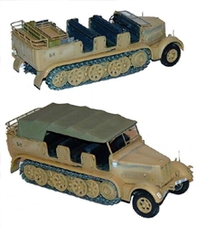 German Sd. Kfz. 7 8-Ton Semi-Tracked Personnel Carrier/ Prime Mover in Desert Camouflage