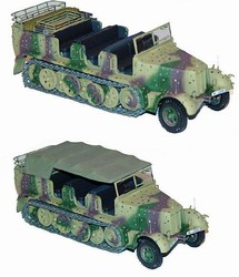German Sd. Kfz. 7 8-Ton Semi-Tracked Personnel Carrier/ Prime Mover in Autumn Ambush Camouflage
