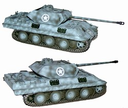 German M10 Ersatz Panther Tank - Winter Camouflage