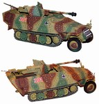 German Sd. Kfz. 251/22 Half-Track with 7.5cm PaK40 in Ambush Scheme