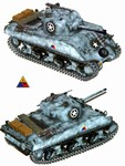 US M4A3 Sherman Medium Tank - 4th Armored Division