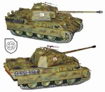 German Late War Sd. Kfz. 171 PzKpfw V Panther Ausf. G Medium Tank - 5.SS Panzer Division Wiking