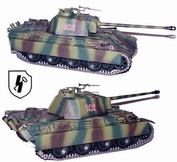 German Late Version Sd. Kfz. 171 PzKpfw V Panther Ausf. G Medium Tank - 12.SS Panzer Division Hitler Jugend, Normandy, 1944