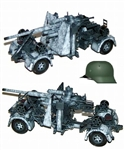 German 88mm Flak 36/37 Anti-Aircraft Gun w/ Trailer - Panzer Grenadier Division Grossdeutschland