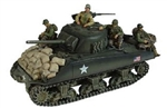US M4A3 Sherman Medium Tank with 3 Soldiers - 3rd Armored Division, Normandy, 1944