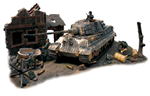 German Sd. Kfz. 182 PzKpfw VI King Tiger Ausf. B Heavy Tank in Diorama - Normandy, 1944