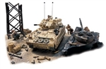 "US M2A2 Bradley Infantry Fighting Vehicle in Diorama - 24th Infantry Division [Mechanized], Kuwait, 1991 ""Take Out the Scuds"""