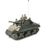 US M4A3 Sherman Medium Tank with 3 Soldiers - 3rd Armored Division, Normandy, 1944 [D-Day Commemorative Packaging]