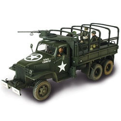 1942 Production US Army GMC CCKW 353 6x6 2-1/2 Ton Truck w/ 3 Soldiers - Unidentified Unit, Normandy, 1944 [D-Day Commemorative Packaging]