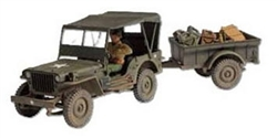 US Willys-Overland Jeep w/ Trailer - Unidentified Unit, Normandy, 1944 [D-Day Commemorative Packaging]