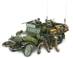 US M3A1 Half-Track with Stowage Racks and 4 Soldiers - Unidentified Unit, Normandy, 1944 [D-Day Commemorative Packaging]