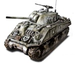 US M4A3 Sherman Medium Tank - 6th Armored Division Super Sixth, Battle of the Bulge, 1944