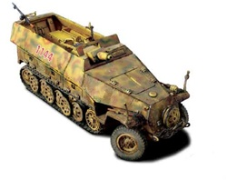 German Sd. Kfz. 251/9 Stummel Half-Track with 7.5cm Anti-Tank Gun - 2.SS Panzer Division Das Reich, Normandy, 1944