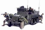 2nd Issue: US M3A1 Half-Track with 3 Soldiers - Unidentified Unit, Normandy, 1944