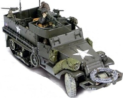 US M3A1 Half-Track with 3 Soldiers - Unidentified Unit, Normandy, 1944 [D-Day Commemorative Packaging]
