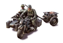 German Zundapp KS 750 Motorcycle with Sidecar - 14.Panzer Division, Eastern Front, 1943