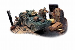 US Army GPA Amphibian Diorama: Normandy, 1944 - 82nd Airborne Division All American, D-Day, the Beachhead, Normandy, 1944
