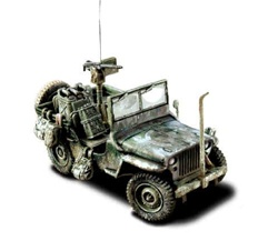 US Willys-Overland Jeep - 11th Armored Division, Battle of the Bulge, 1944
