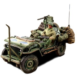 US Willys-Overland Jeep - 82nd Airborne Division All-American, Normandy, 1944 [D-Day Commemorative Packaging]