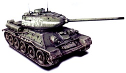 Russian T-34/85 Medium Tank - Unidentified Unit, Eastern Front, 1944