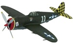 USAAF Republic P-47D Thunderbolt Fighter - Herschel Green, White 11, 317th Fighter Squadron, 325th Fighter Group,  (Checkertail Clan), Celone, Italy, 1944