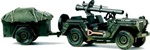 US Army M151 A1 Mutt Utility Truck with Recoilless Rifle and Trailer