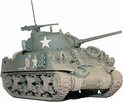 US M4A3 Sherman Medium Tank - Thunderbolt, 37th Tank Battalion, 4th Armored Division, France, 1944