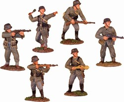 WWII German Infantry 6-Figure Set - Normandy, 1944