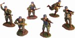 WWII German Fallschirmjaeger 6-Figure Set - Normandy, 1944
