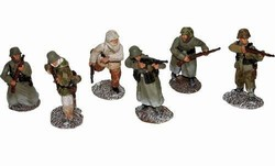 WWII German Infantry 6-Figure Set - Battle of the Bulge, 1944